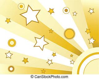 cercles, étoiles, fond