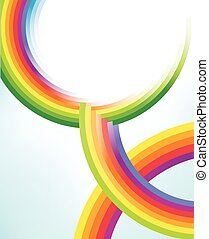 cercles, arc-en-ciel, résumé, textures, coloré