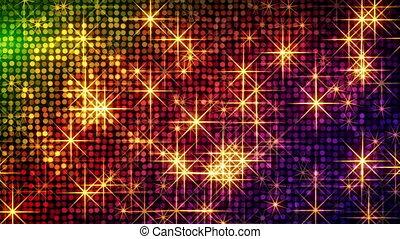 cercles, brillant, coloré, étoiles