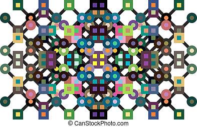 cercles, carrés