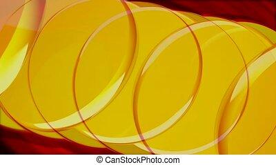 cercles, chevaucher, jaune
