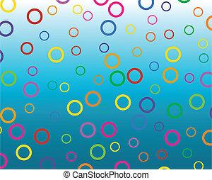 cercles, coloré