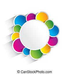 cercles, coloré, créatif