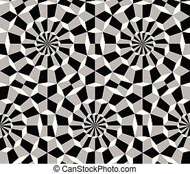 cercles, cubes, modèle, seamless, hypnotique, absctact
