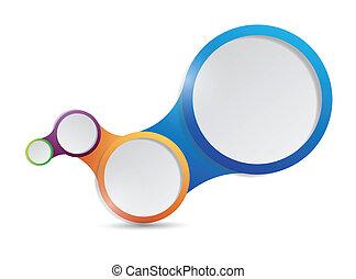 cercles, diagramme, conception, illustration, lien