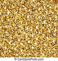 cercles, doré, scintillement, seamless, modèle, scintillements, brillant