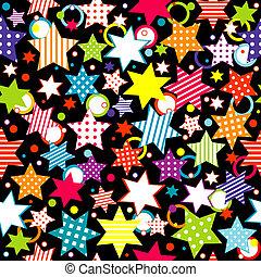 cercles, fond, étoiles
