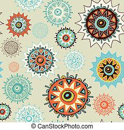 cercles, fond, ornement, seamless, coloré