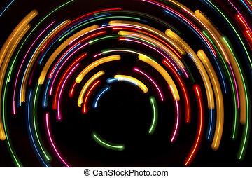 cercles, lumière, fond