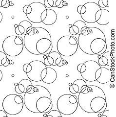 cercles, modèle, dessin, seamless, encre