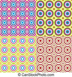 cercles, modèle, résumé, set., vector.