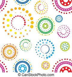 cercles, modèle, seamless