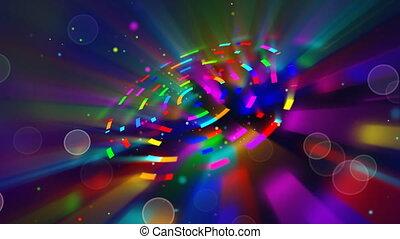 cercles, multicoloured, brillant, boucle
