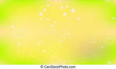 cercles, résumé, anneaux, vert jaune, fond
