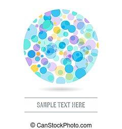 cercles, résumé, fond, coloré