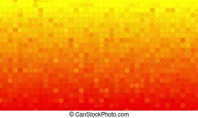 cercles, résumé, loopable, fond, orange, mosaïque