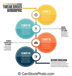 cercles, timeline, infographic
