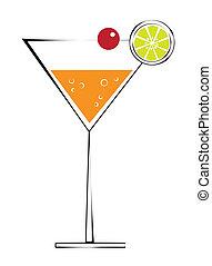 cerise, martini