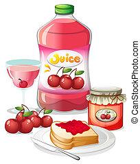 cerise, usages, sien, fruits