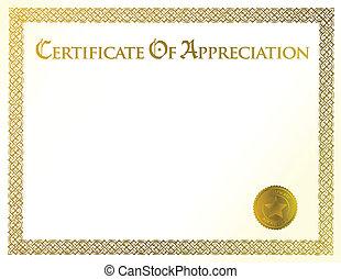 certificat, accomplissement