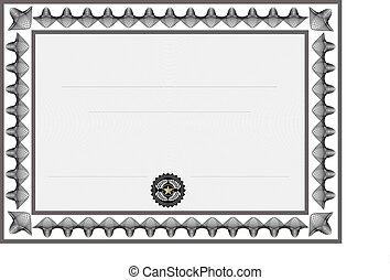 certificat, vide