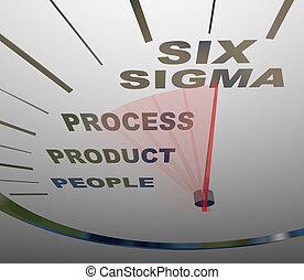 certification, compteur vitesse, six, -, expédier, sigma