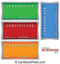 certificats, ensemble