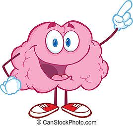 cerveau, doigt indique