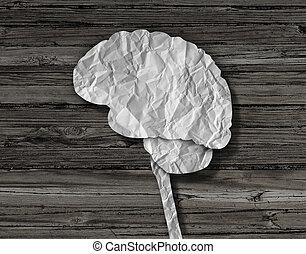 cerveau, papier