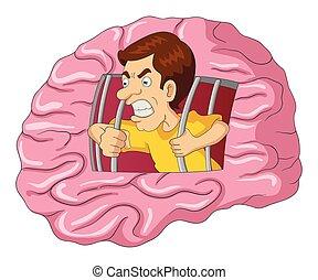 cerveau, prison