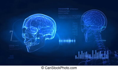 cerveau, puls, exposer, monde médical
