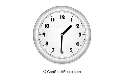 cgi, animé, horloge bureau