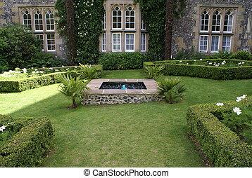 château arundel, angleterre, jardin
