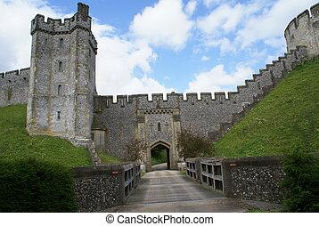 château arundel, entrée, angleterre