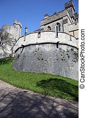 château, arundel, moyen-âge, anglaise