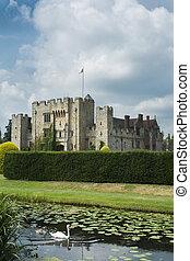 château, cygne, anglaise