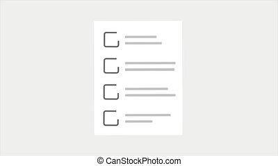 chèque, gabarit, toile, liste, animation