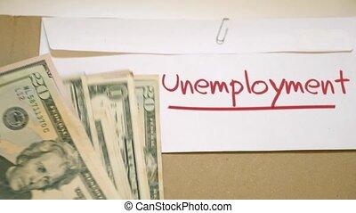 chômage, concept, coûts