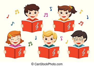 chœur, garçons, song., filles, chant