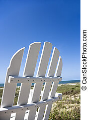 chaise, plage.