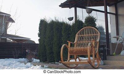 chaise, yard, balancer