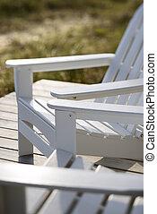 chaises, plage., adirondack