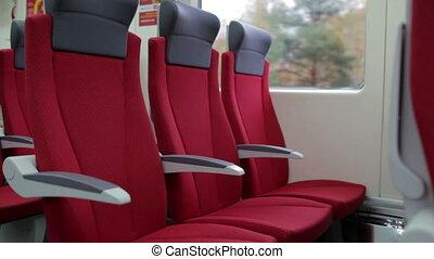 chaises, train., rouges