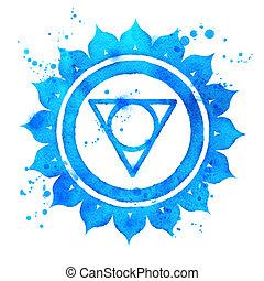 chakra, symbole., vishuddha
