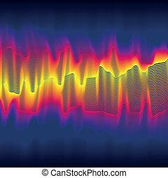 chaleur, infrarouge, vague