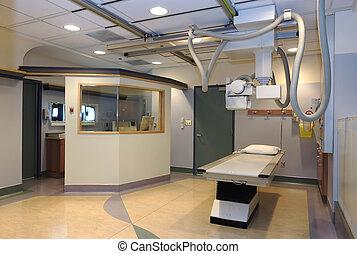chambre hôpital, rayon x