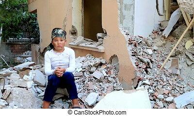 champ bataille, enfant, orphelins, homelessness
