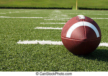 champ, football américain, closeup