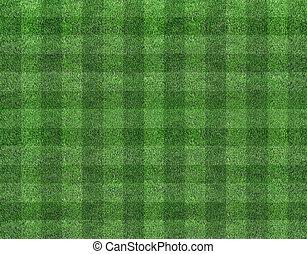 champ, football, herbe, vert