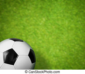 champ herbe, balle, arrière-plan vert, football